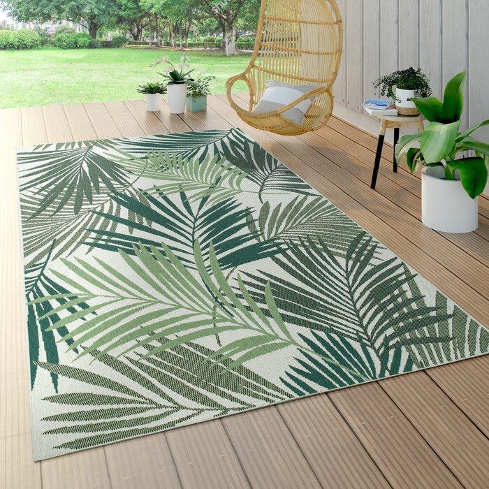 Green Tropical Rug