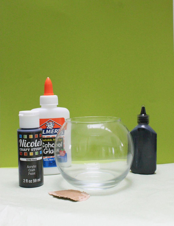 Halloween Jack-O-Lantern and Cauldron Candle Holders Materials