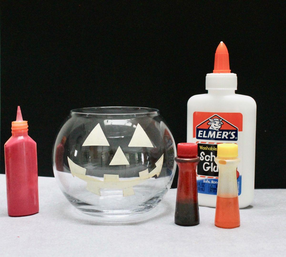 Halloween Jack-O-Lantern and Cauldron Candle Holders Supplies