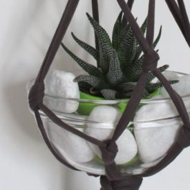 Upcycle A T Shirt Into A Hanging Planter