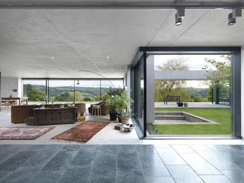 Inside Outside house large windows