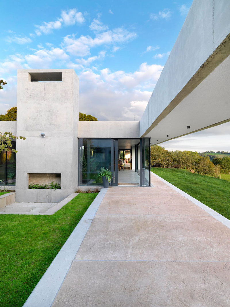 Sunken House With A Courtyard Built Into The Hillside