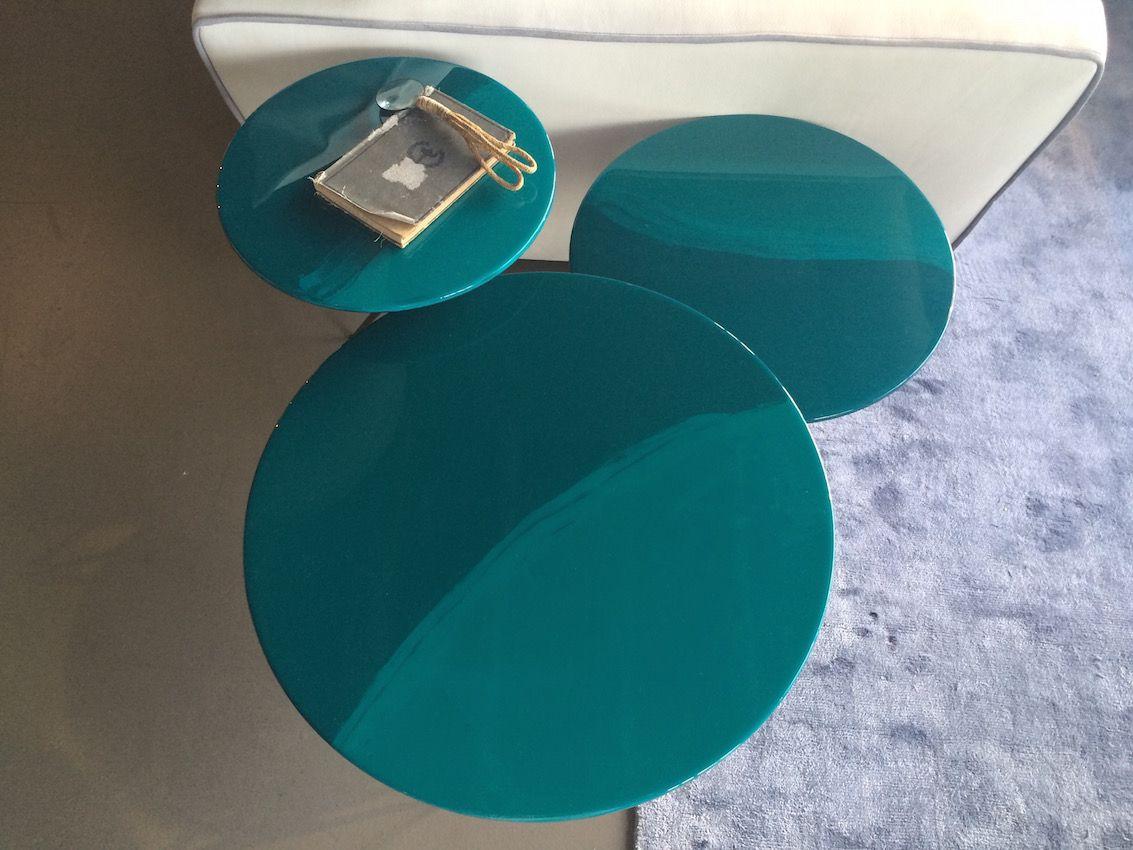 Keppel aqua color coffee table