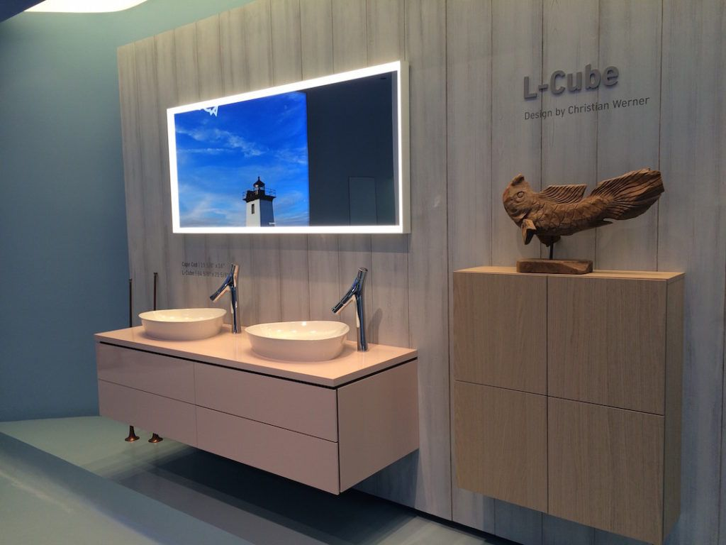 L-Cube bathroom furniture by Christian Werner is clean lined and modern.