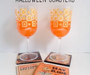 DIY: Last Minute Halloween Coasters