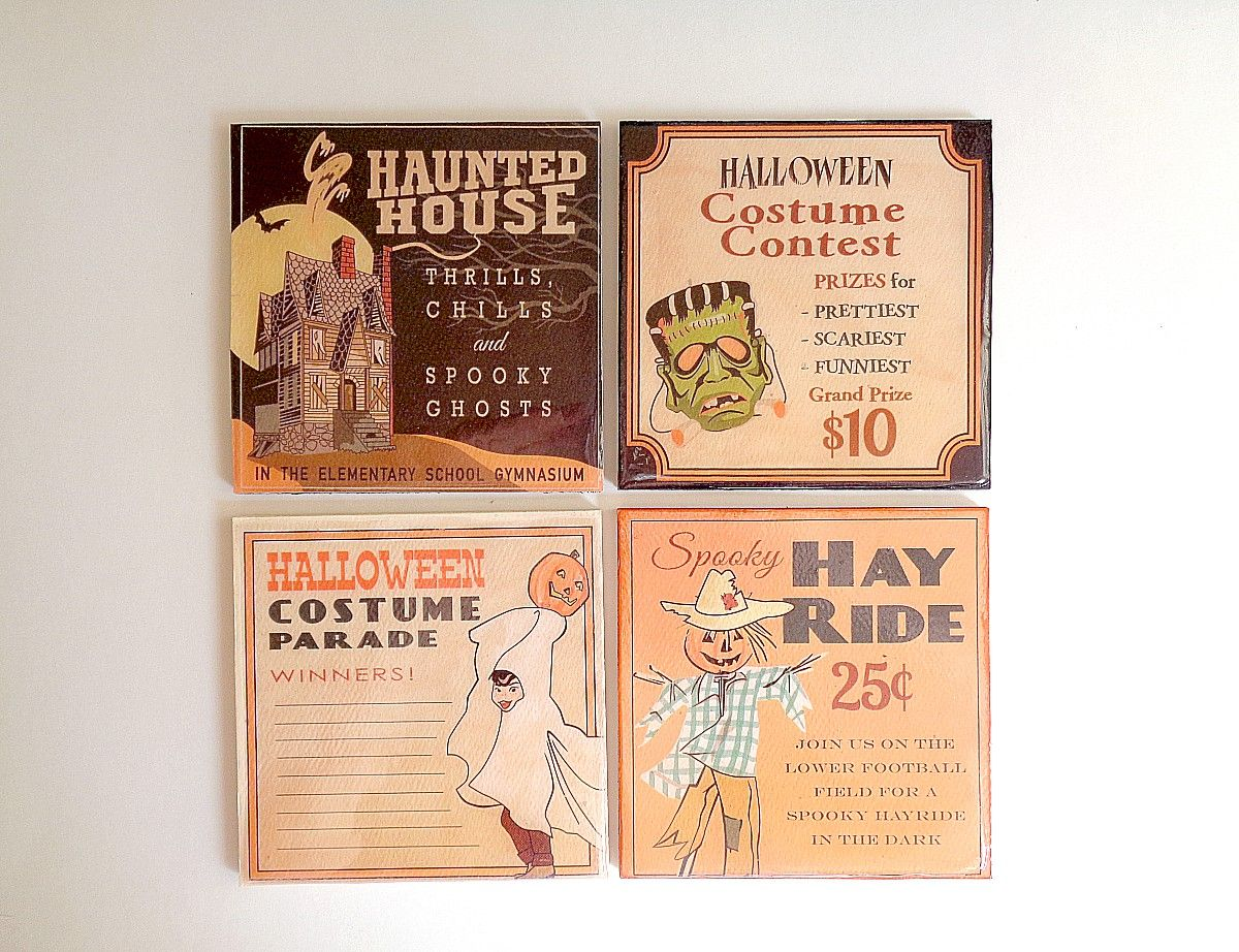 Last Minute Halloween Coasters Project