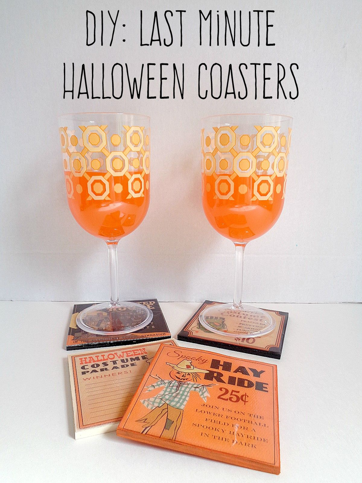 Last Minute Halloween Coasters