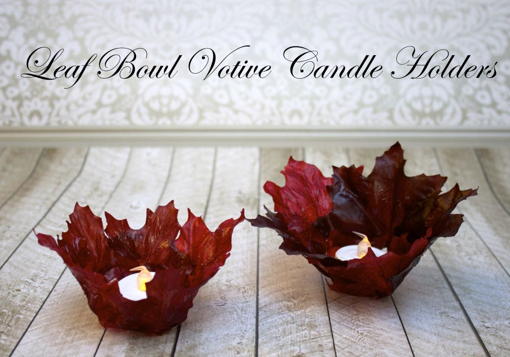 Leaf Bowl Votive Candle Holders
