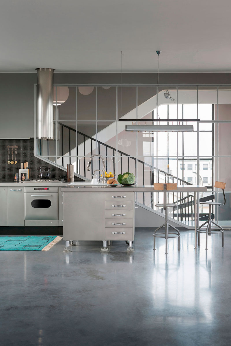 Loft 19 house kitchen and staircase