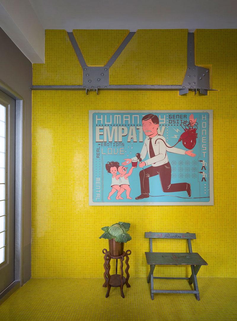 Loft 19 house yellow wall decor