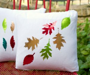 Make Foiled Pillows for Fall