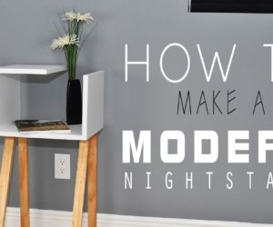How To Make A Modern Two-Toned Nightstand