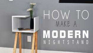 Stylish Crafts Made Easy – Modern DIY Nightstand Tutorial