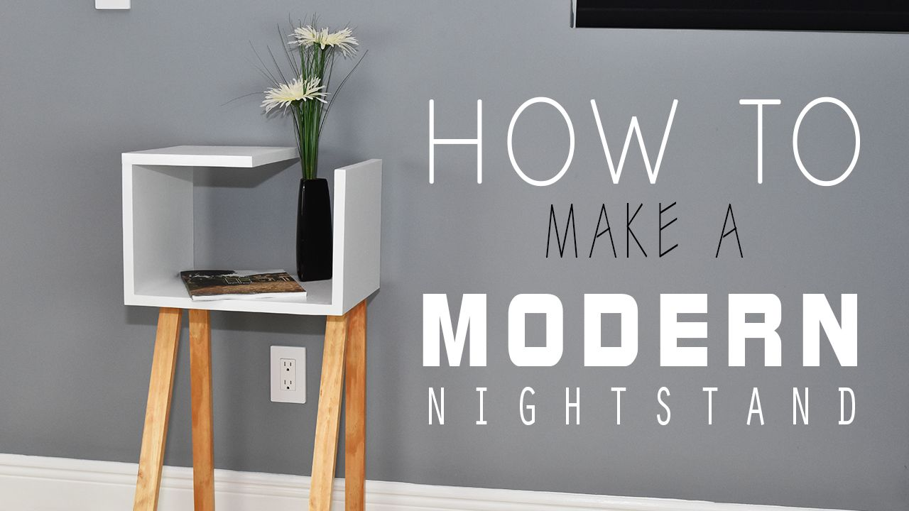 How To Make A Modern Two Toned Nightstand