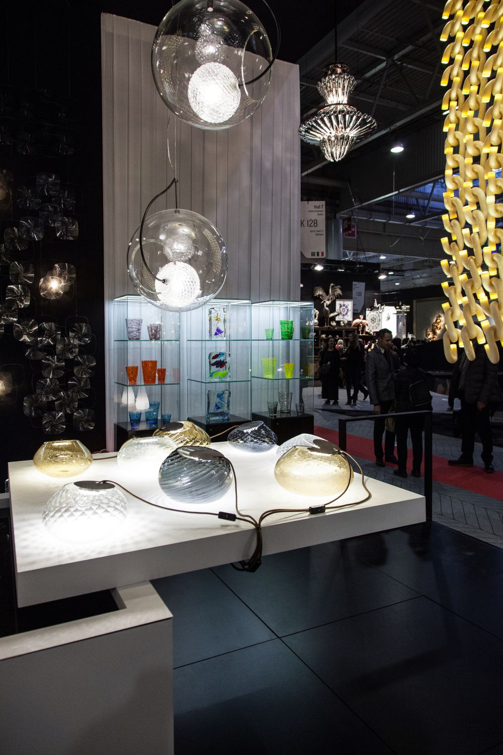 Malfatto and inner Glass lamps