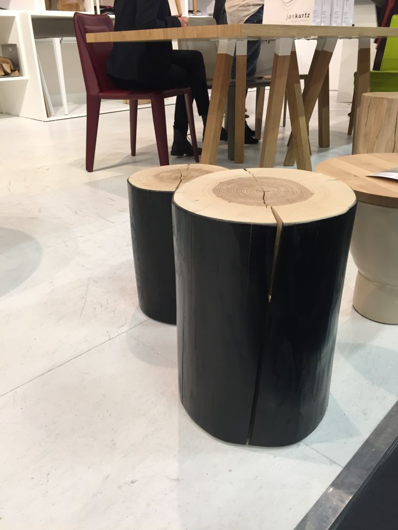Man cave wood stools in black