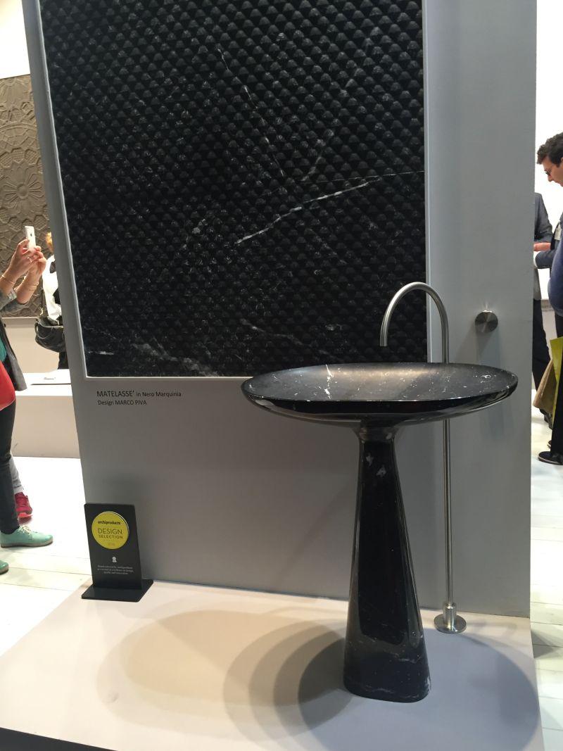 Marco Piva Black Freestanding sink