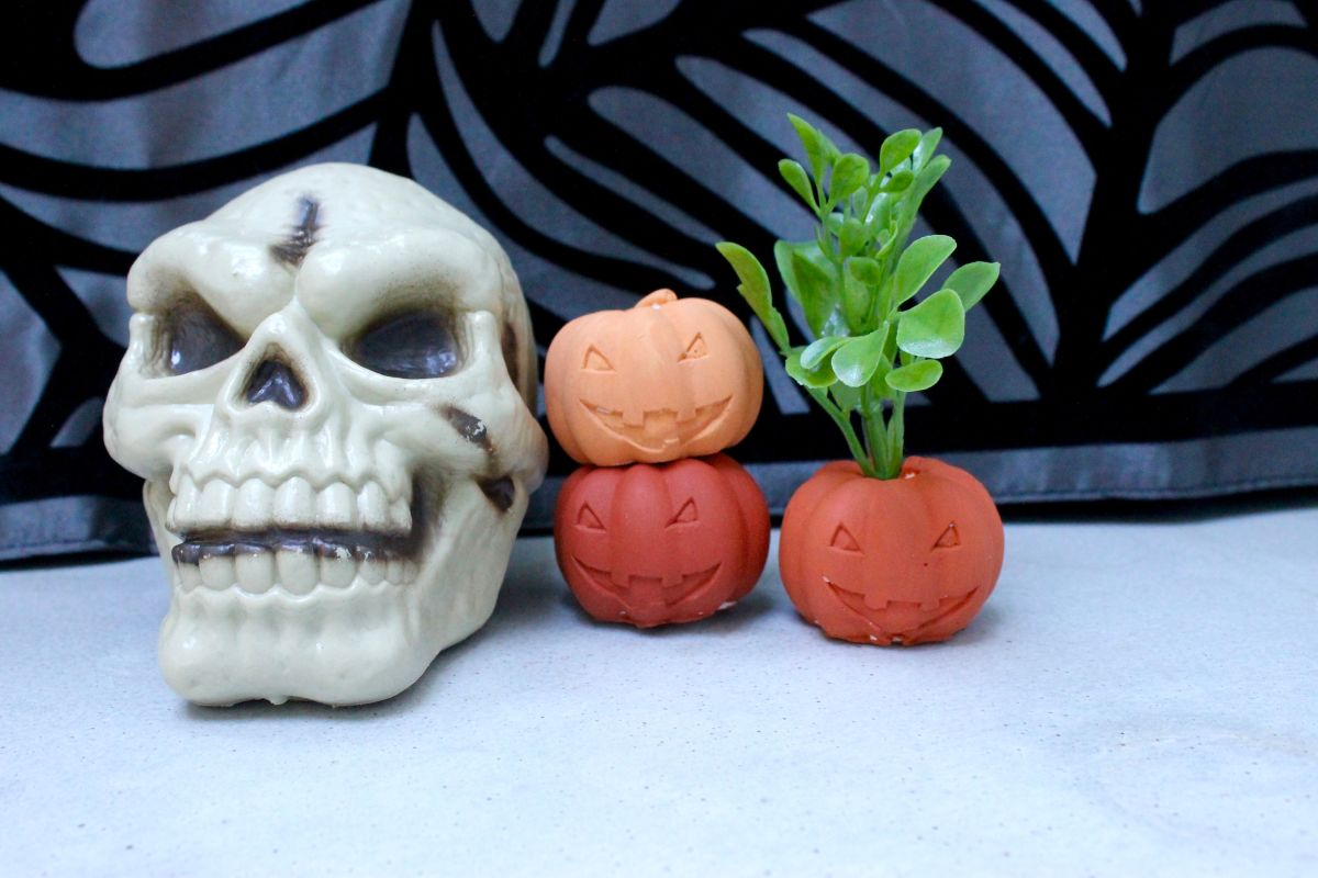 Mini Halloween Pumpkin Air Plant Holders