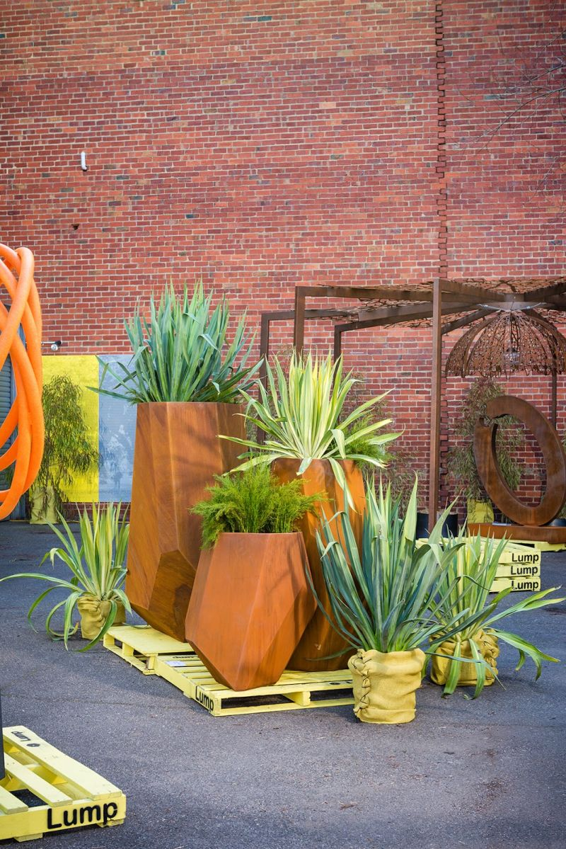 Beautiful Corten Steel Planters Shaped And Inspired By Nature