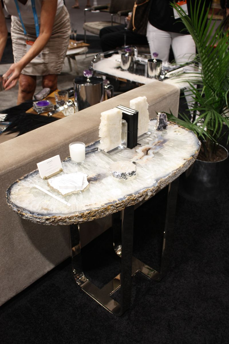 Narrow console table - gemstone