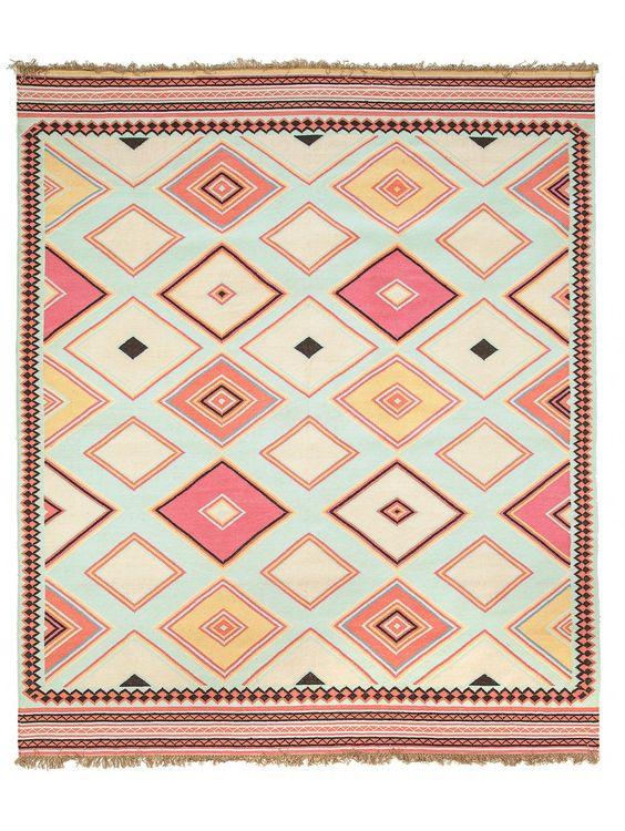 Native dark floor rug