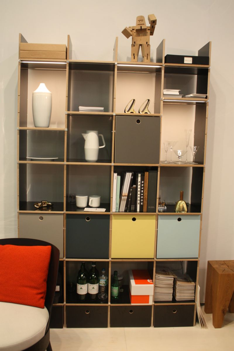 Pale Aqua Bookshelves
