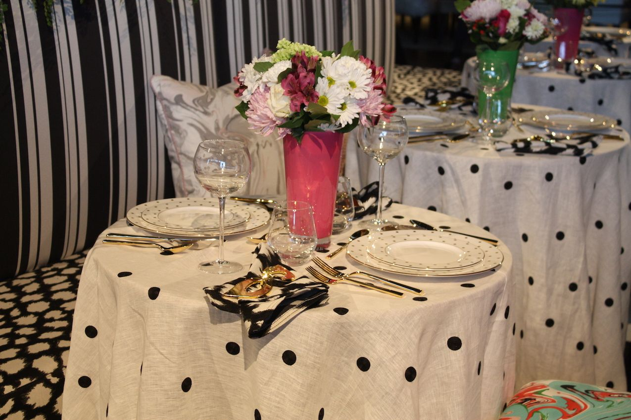 Parasols party tables decor