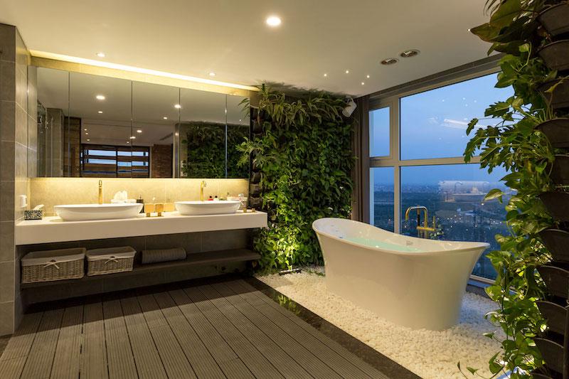 Ecopark Bathroom Green Walls