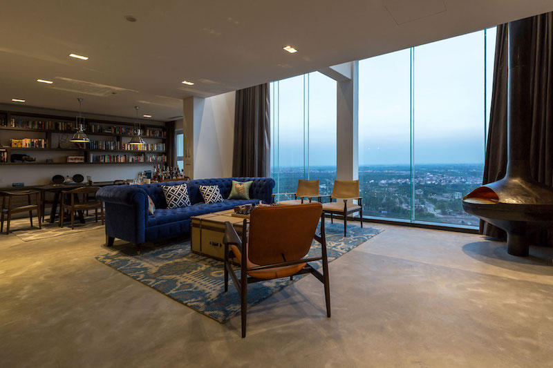 Penthouse Ecopark living room view