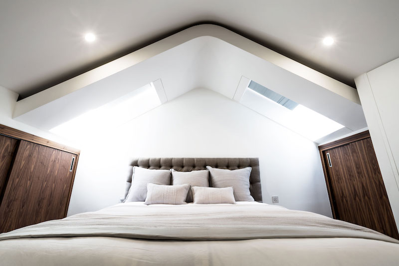 Penthouse apartment in church master bedroom ceiling