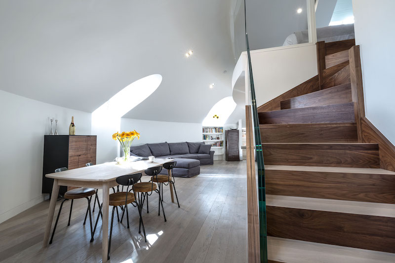 apartment inside. Penthouse Apartment In Church Staircase And Dining Area Modern Apartment Inside A Converted Church