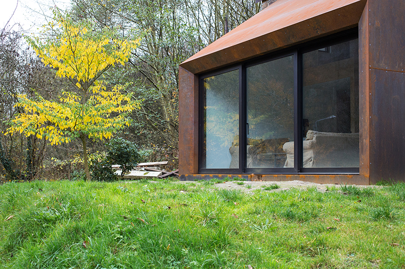 Puzzles Architecture Corten Steel Extension Design
