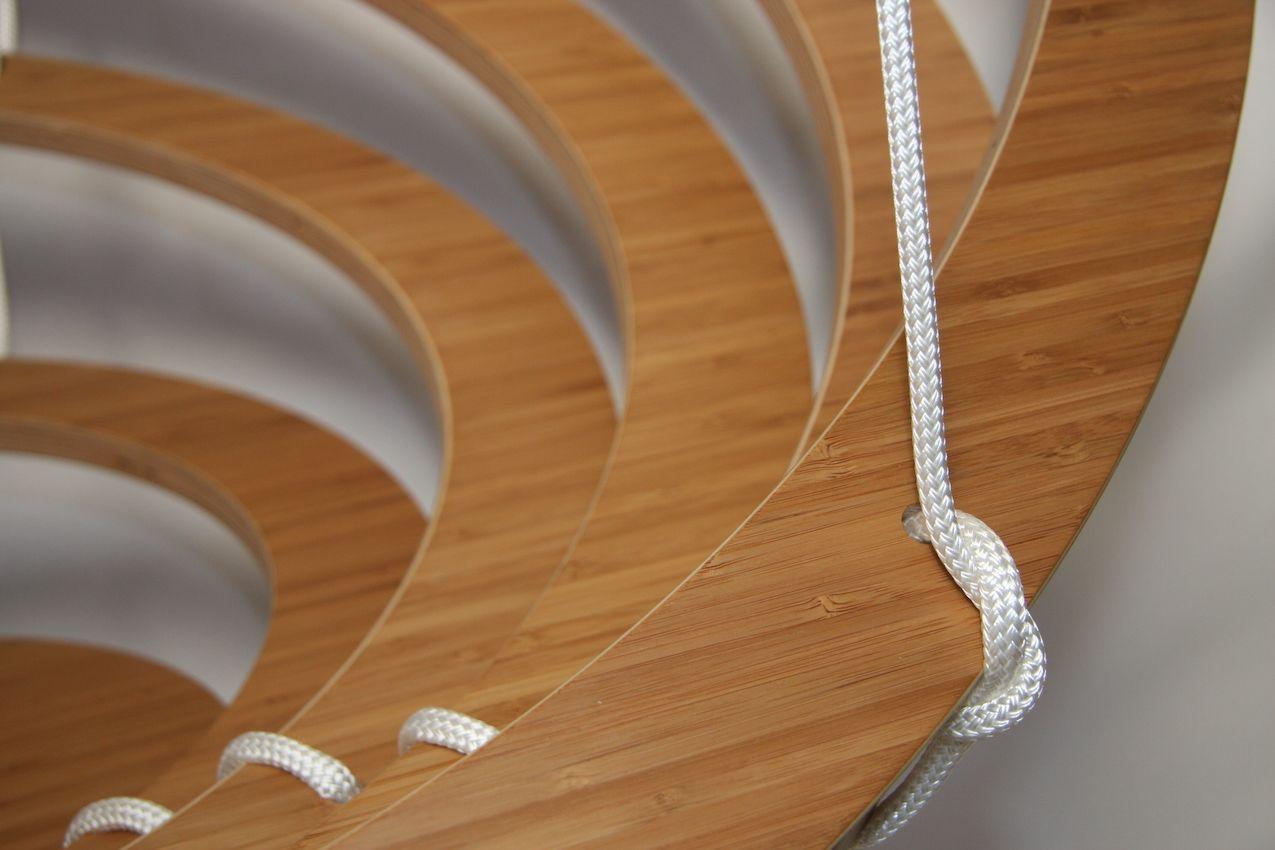 Suspension rope details.
