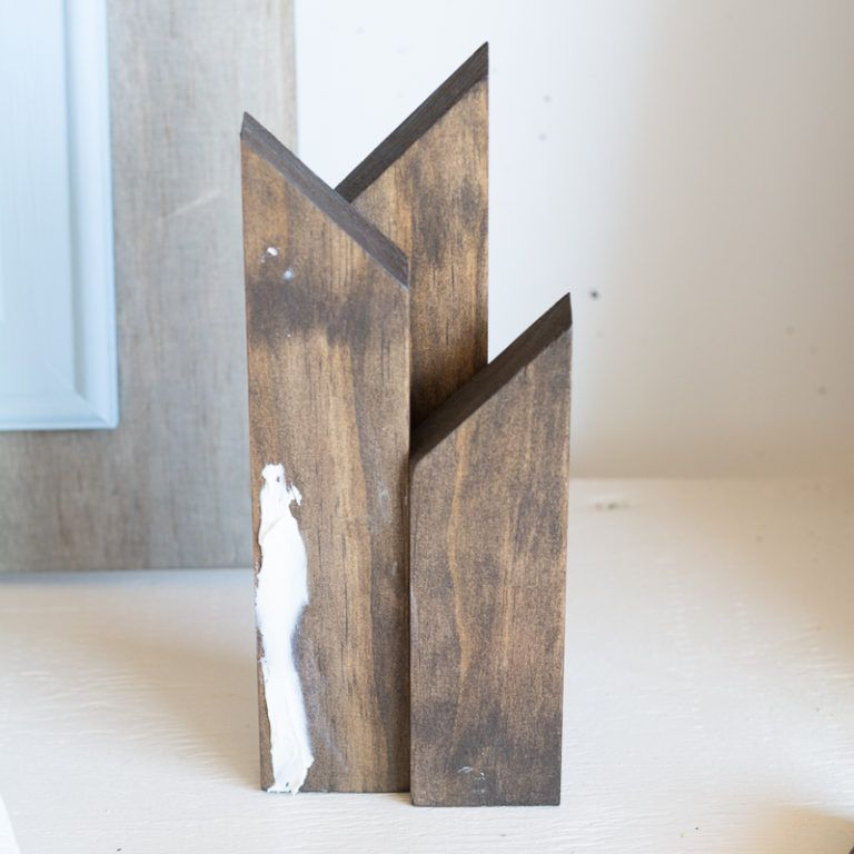 Scrap Wood Modern Mountain Art Glue