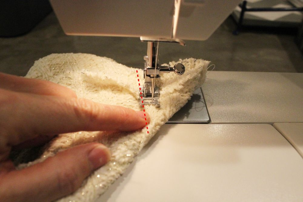 Sew the short perpendicular seam