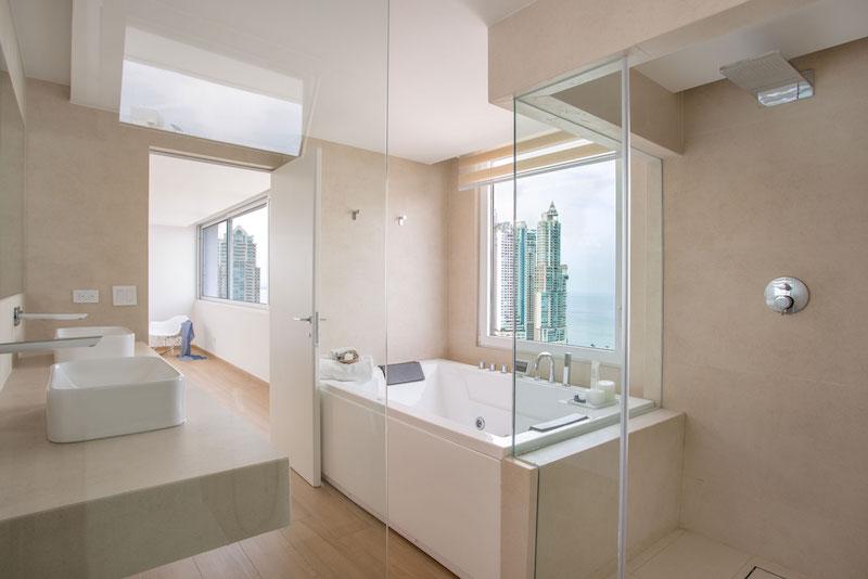 Sky in Every Room apartment bathroom