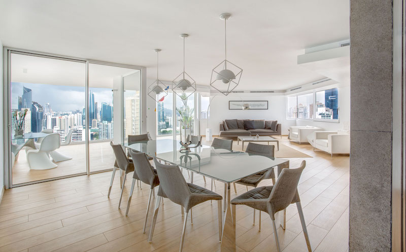 Sky in Every Room apartment indoor dining area