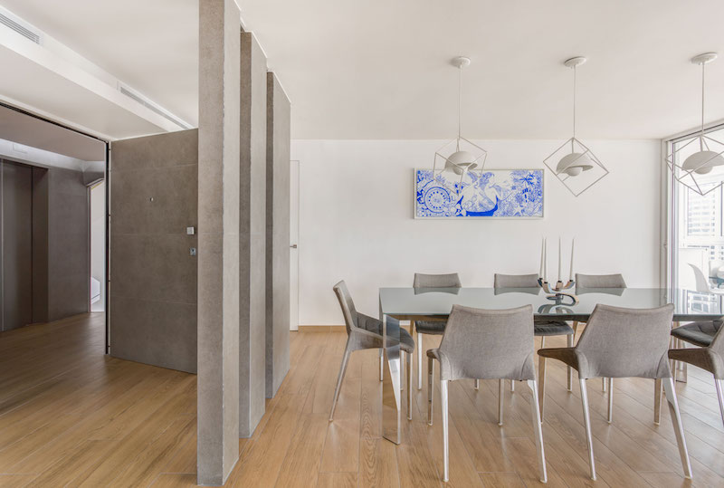 Sky in Every Room apartment indoor dining space