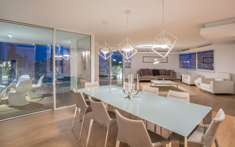 Sky in Every Room apartment interior dining space