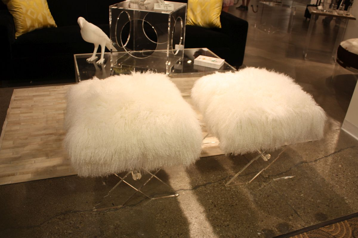 Small acrylic fur stools