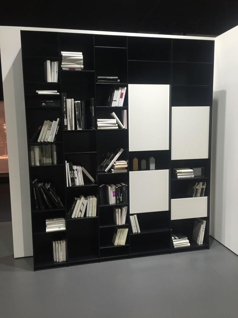 Small black wall bookshelf