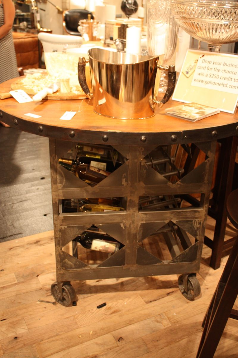 Small cart with wine storage