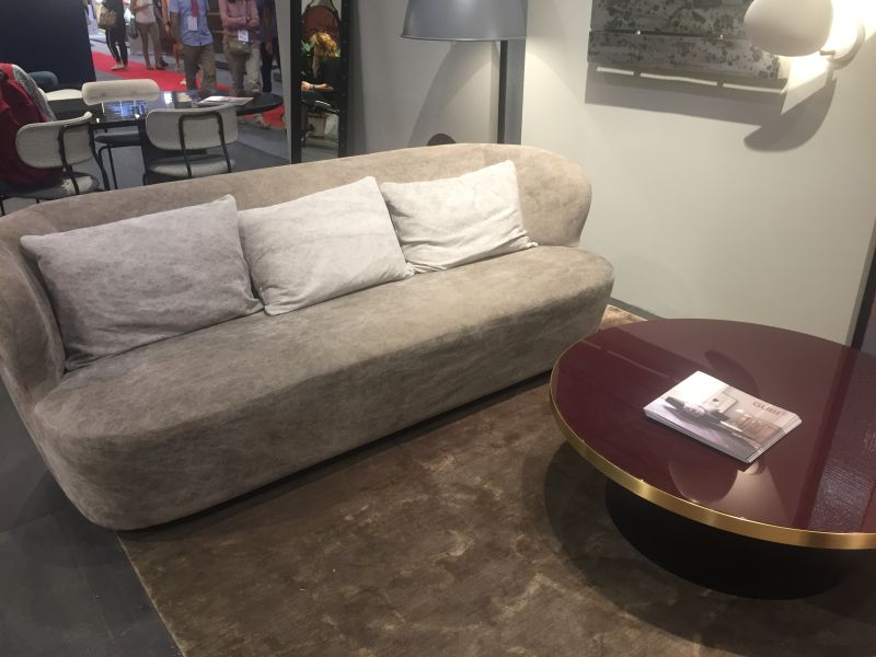 Small three seats grey couch