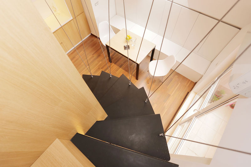 Sofia studio with view from staircase