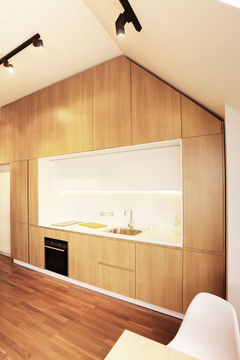Sofia studio with white kitchen counter