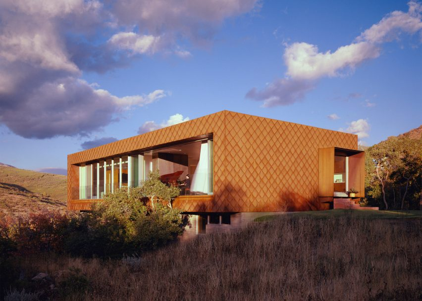 Sparano Mooney Architecture Corten House Facade