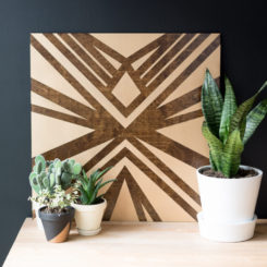 Stained and Painted DIY Plywood Art