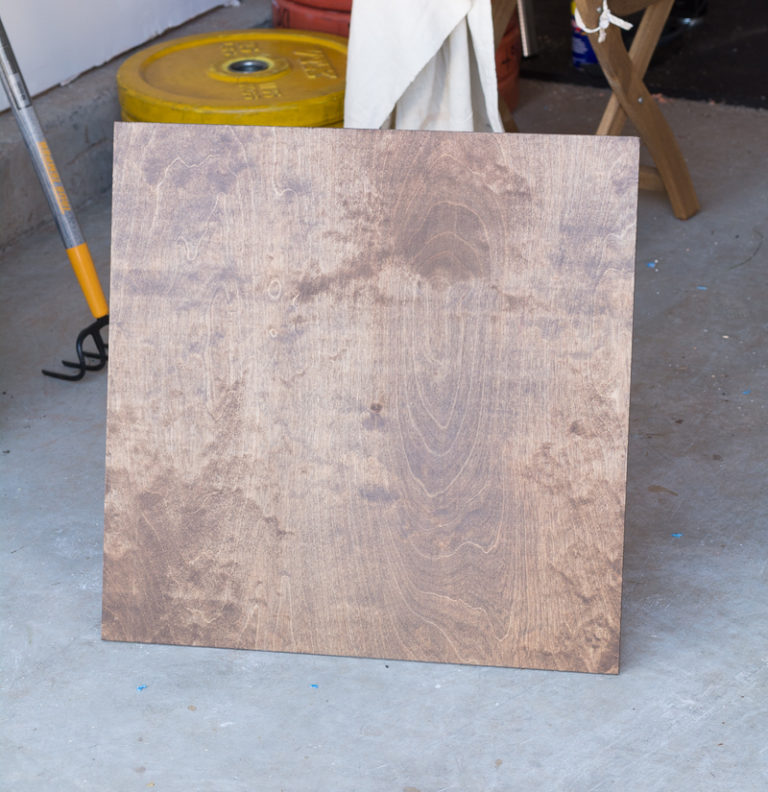 Stained and Painted DIY Plywood Art Stain Process