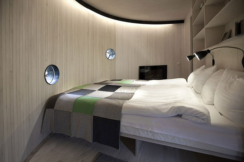 Sweden tree hotel birds nest room bedroom