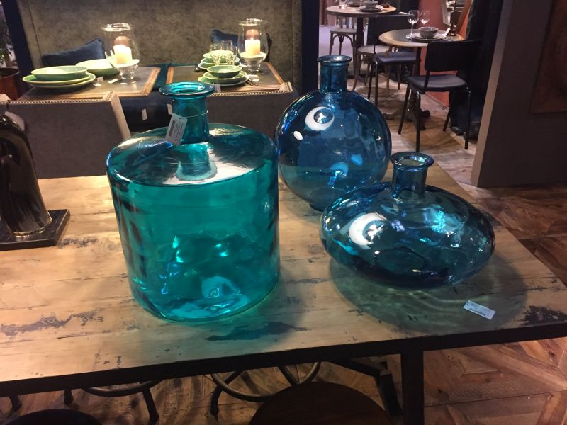Teal Glass Vases